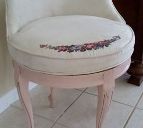 1920 1930s Victorian Revival Vanity Chair Upholstery Revival Care And,  Painted Furniture, Reupholster