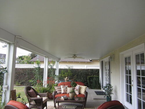Hanging Lights, Decorations Or Chandelier On A Patio Cover