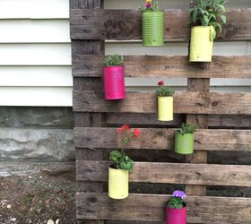 upcycled tin can planters container gardening diy