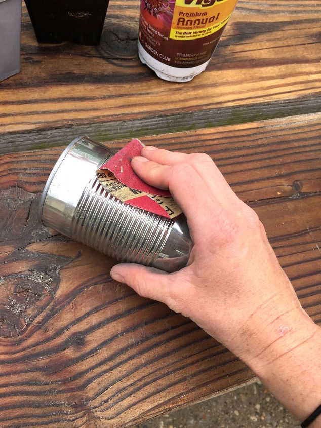 upcycled tin can planters, container gardening, diy, gardening