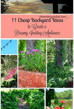 11 cheap backyard ideas to create a dreamy inviting ambiance, concrete masonry, flowers, gardening, hibiscus, landscape