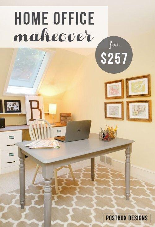 $257 Home Office Makeover (+4 DIY Ideas!) | Hometalk