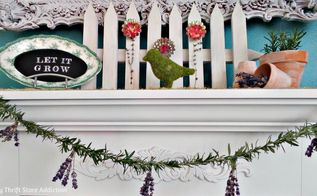 repurposed tart tin and herb flower garden mantel diymyspring, easter decorations, fireplaces mantels, repurposing upcycling, seasonal holiday decor