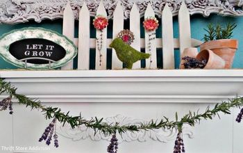 Repurposed Tart Tin and Herb Flower Garden Mantel