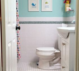 Ideas For Painting A Small Bathroom Part - 43: Kids Bathroom Before After Brightening A Tiny Windowless Space, Bathroom  Ideas, Painting, Small