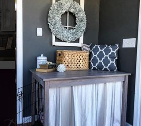 Beautify Your Dog S Crate With This Simple Table Build, Painted Furniture,  Pets,