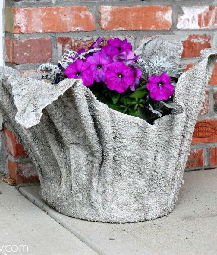 s 12 smarter ways to garden on a budget, container gardening, gardening, repurposing upcycling, Repurpose found materials into planters