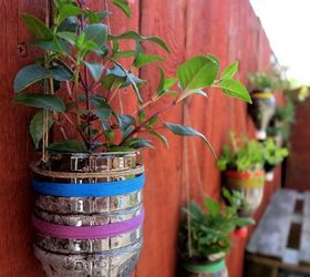 Plant Inside Empty Containers Or Recyclables. Make A Hanging Vertical Garden  ...