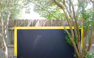 giant outdoor chalkboard, chalkboard paint, crafts, fences, outdoor living