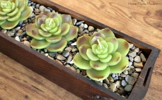 old drawer becomes faux planter box, crafts, repurposing upcycling, Faux succulent planter