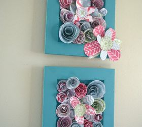 How To Make Simple 3 D Flower Wall Art, Crafts, How To, Wall