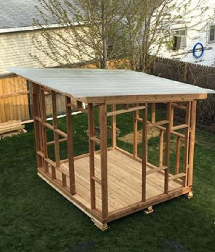 8 X 10 cedar frame with shed roof