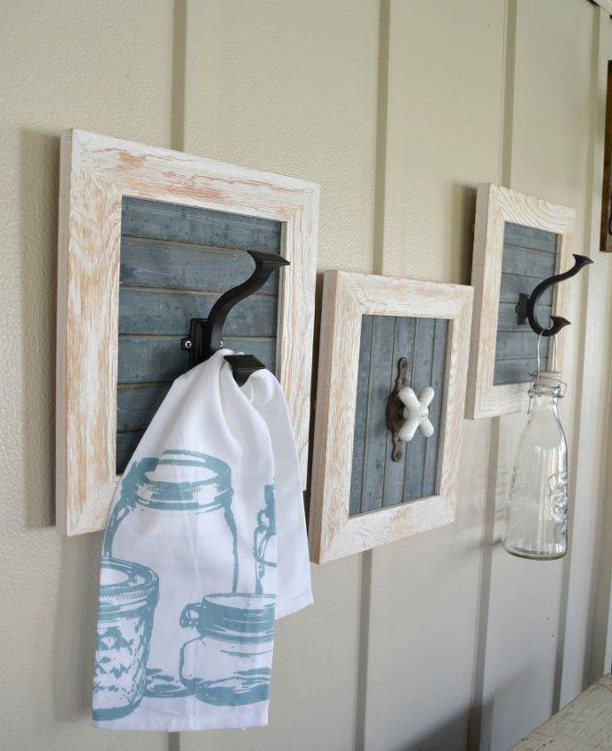 diy farmhouse bathroom hooks, bathroom ideas, wall decor
