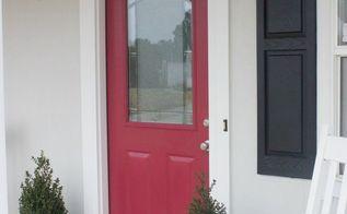 an easy diy front door update, curb appeal, diy, doors