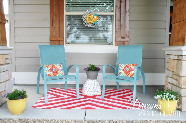 Summer Is Here How I Added Lots Of Color To My Front Porch Hometalk - Summer furniture