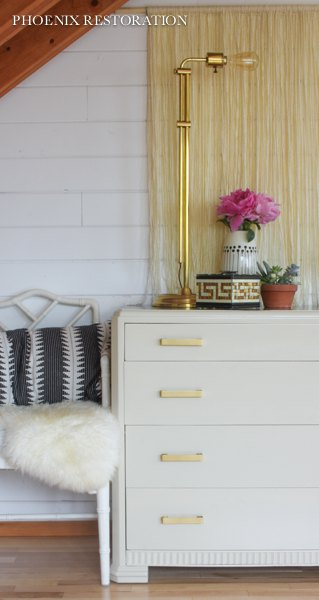 art deco dresser in taupe walnut gold, how to, painted furniture