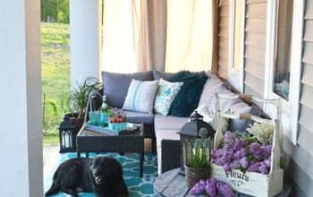 A Farmhouse Country Boho Porch Makeover