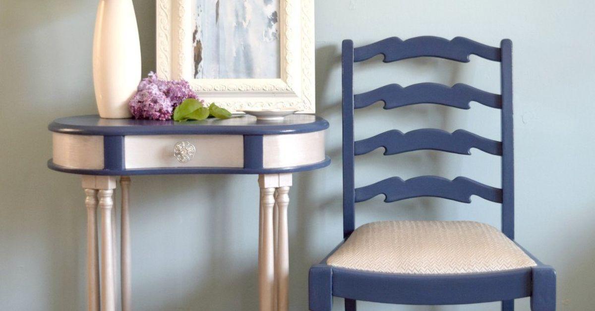 furniture makeover using paint and metallic cream hometalk