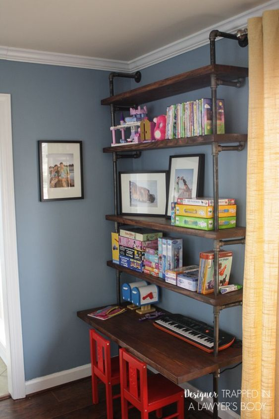 Diy Pipe Bookshelves And Desks Home Office Shelving Ideas