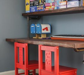 Diy Pipe Bookshelves And Desks, Diy, Home Office, Shelving Ideas