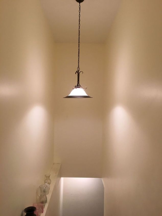 Pendant light moved from dining room