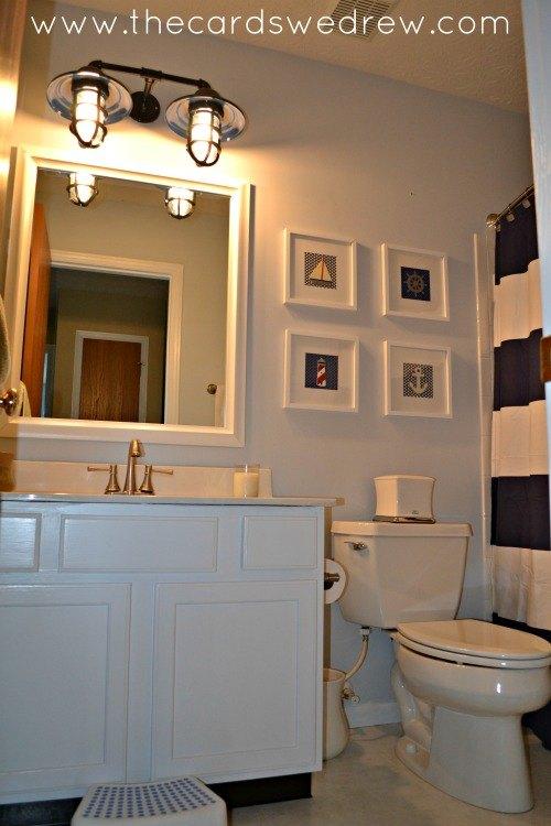 mesmerizing nautical bathroom makeover | Nautical Bathroom Makeover | Hometalk