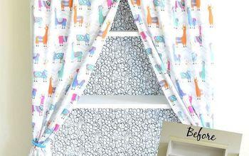 Bookshelf Makeover - How to Add Curtains to Bookshelf
