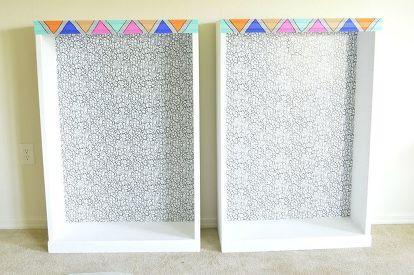 Bookshelf Makeover How To Add Curtains Shelving Ideas