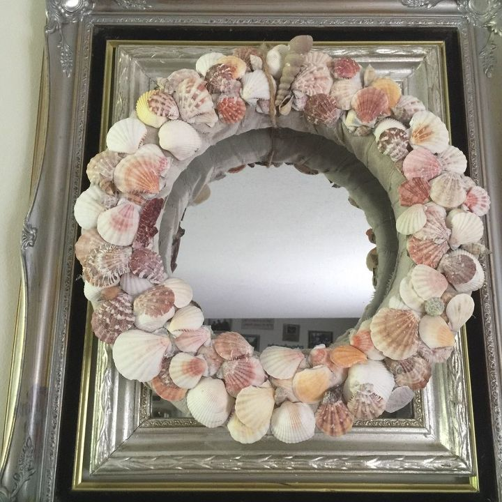 summer mantel seashell wreath tutorial, crafts, fireplaces mantels, how to, wreaths