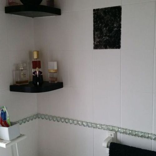 paint over bathroom tile. I Painted All The Walls With White Gloss, And Picked Out Odd Tile Over Those By Stippling Black Onto Them. Hope This Helps Paint Bathroom T