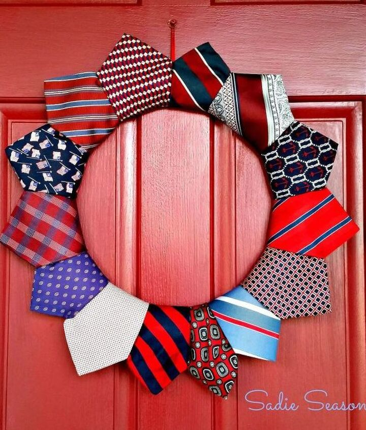 s 16 patriotic wreaths that will fill you with pride, crafts, seasonal holiday decor, wreaths, Tied and True Red White and Blue