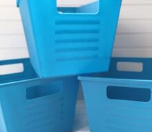 dollar store bins get a transformation, storage ideas