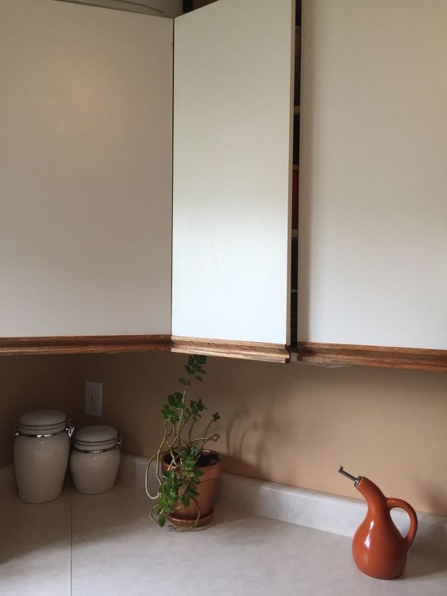 Is there any hope left for these outdated kitchen cabinets?   Hometalk