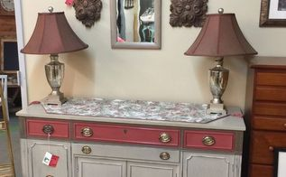 my first chalk paint project, chalk paint, painted furniture, Set up in a booth want to sell