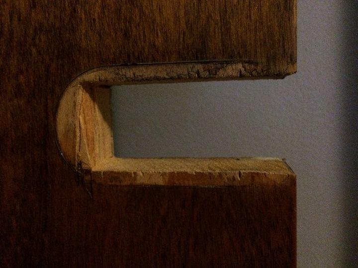 q what type of door knob is this , doors, home decor id, The cutout of the door
