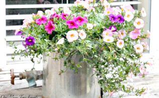 diy recycled watering can planter, diy, gardening, repurposing upcycling