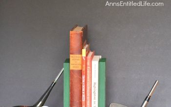 diy golf bookends, crafts, diy, home decor, painted furniture, shelving ideas