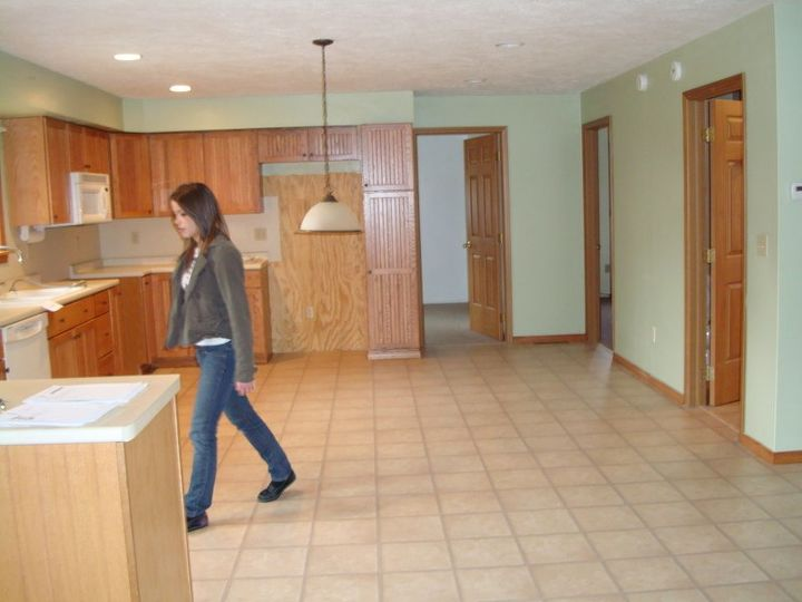 yellow oak cabinets transform , diy, home improvement, kitchen cabinets, kitchen design
