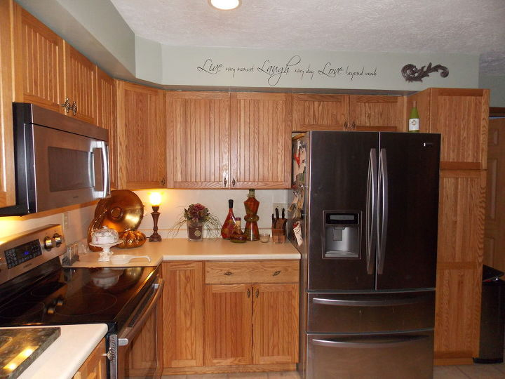 Yellow Oak Cabinets Transform Diy Home Improvement Kitchen Design