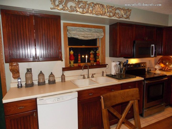yellow oak cabinets transform , diy, home improvement, kitchen cabinets, kitchen design