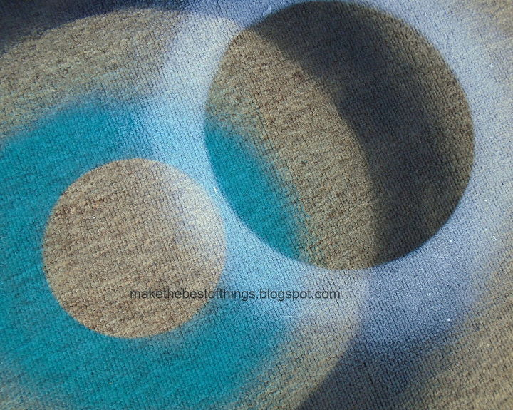 spray paint a rug sure , how to, painting, reupholster