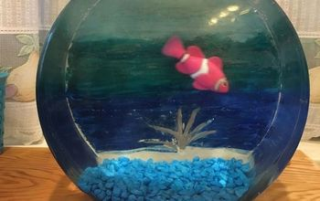 glass fish bowl gets under the sea view with unicorn spit gel stain, crafts, This is NOT a real fish