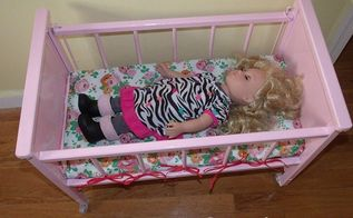 doll crib makeover, painted furniture