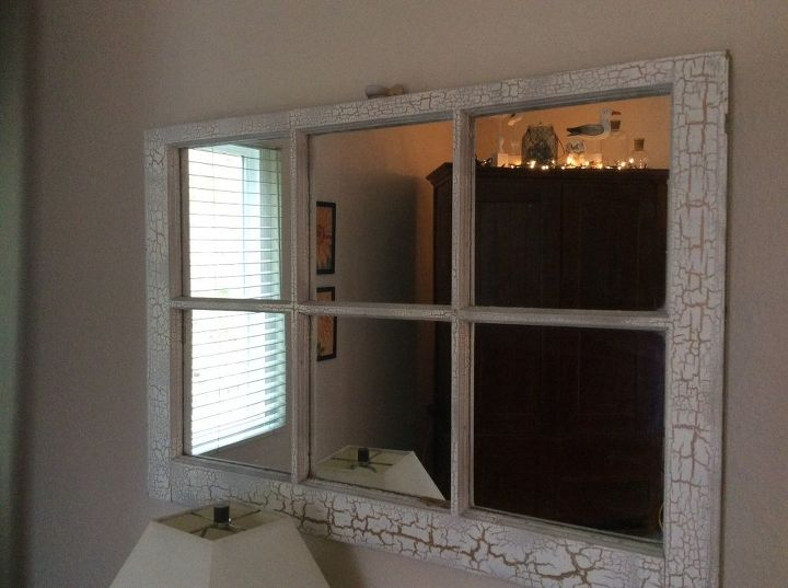 two uses for old window frames, how to, repurposing upcycling, wall decor, windows, Check out the cool seagulls that landed