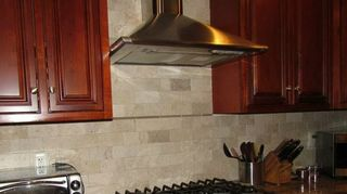, Tumbled marble subway tiles no grout