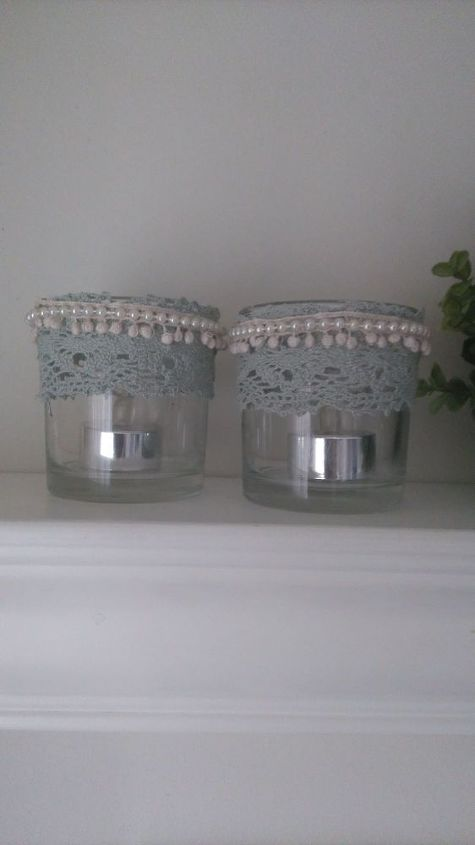 cute candle holders from old candle jars, crafts, repurposing upcycling