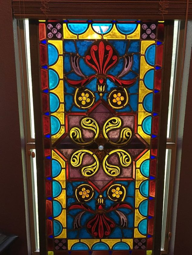 q anyone know how to clean stained glass window , cleaning tips, house cleaning, windows, with light