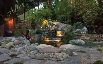 amazing before after photos water feature puyallup wa, landscape
