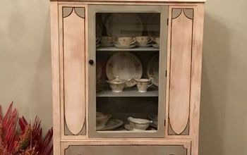 china hutch make over, painted furniture, shabby chic, Finished cabinet