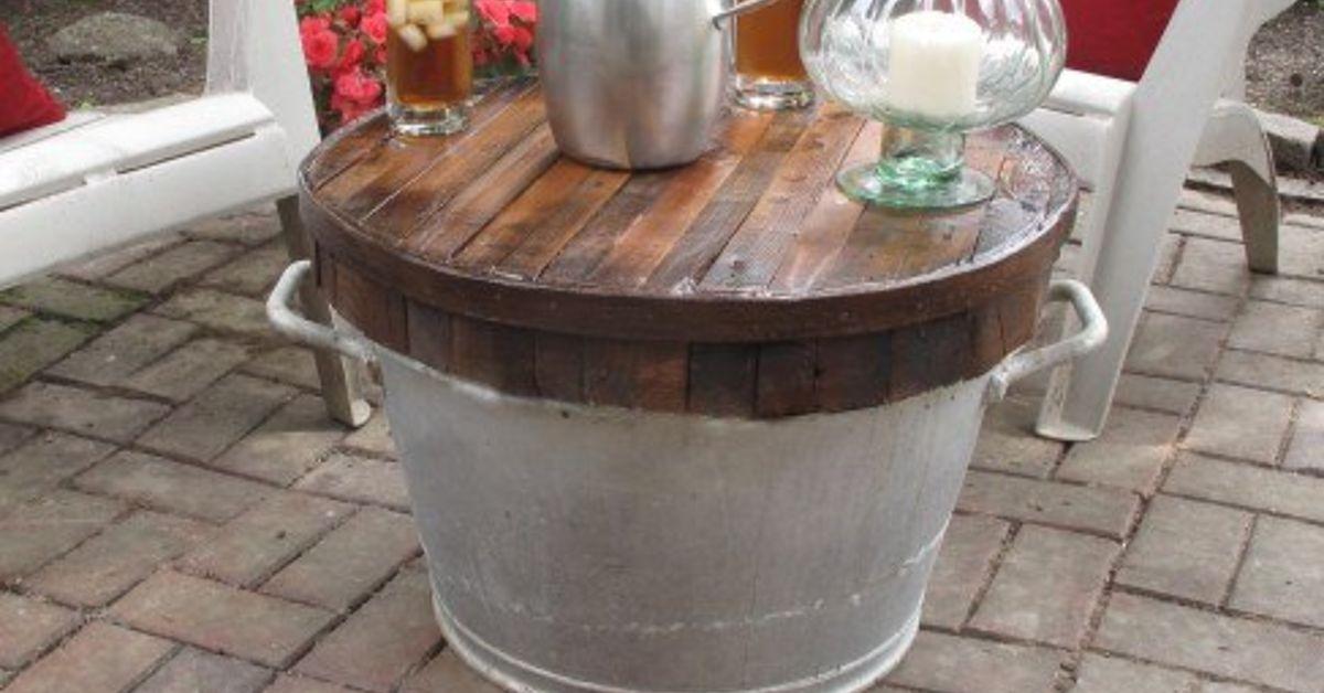 Butcher Block Wash Tub Table | Hometalk